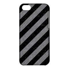 Stripes3 Black Marble & Gray Colored Pencil Apple Iphone 5c Hardshell Case
