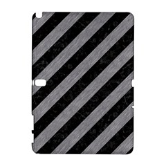 Stripes3 Black Marble & Gray Colored Pencil Galaxy Note 1