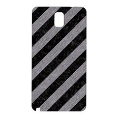 Stripes3 Black Marble & Gray Colored Pencil Samsung Galaxy Note 3 N9005 Hardshell Back Case