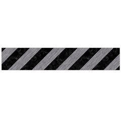 Stripes3 Black Marble & Gray Colored Pencil Flano Scarf (large)