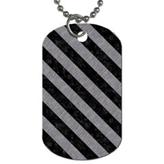 Stripes3 Black Marble & Gray Colored Pencil (r) Dog Tag (two Sides)
