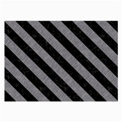Stripes3 Black Marble & Gray Colored Pencil (r) Large Glasses Cloth