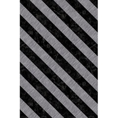 Stripes3 Black Marble & Gray Colored Pencil (r) 5 5  X 8 5  Notebooks