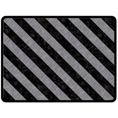 Stripes3 Black Marble & Gray Colored Pencil (r) Fleece Blanket (large)