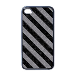 Stripes3 Black Marble & Gray Colored Pencil (r) Apple Iphone 4 Case (black)