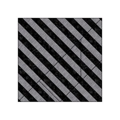 Stripes3 Black Marble & Gray Colored Pencil (r) Acrylic Tangram Puzzle (4  X 4 )