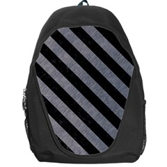 Stripes3 Black Marble & Gray Colored Pencil (r) Backpack Bag