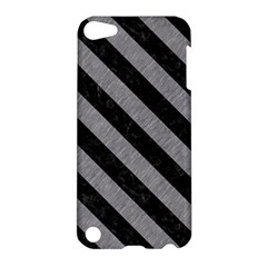 Stripes3 Black Marble & Gray Colored Pencil (r) Apple Ipod Touch 5 Hardshell Case