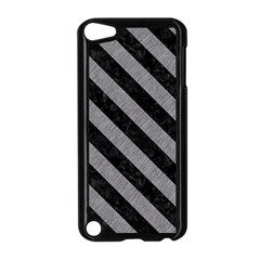 Stripes3 Black Marble & Gray Colored Pencil (r) Apple Ipod Touch 5 Case (black)