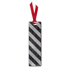 Stripes3 Black Marble & Gray Colored Pencil (r) Small Book Marks