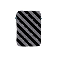 Stripes3 Black Marble & Gray Colored Pencil (r) Apple Ipad Mini Protective Soft Cases