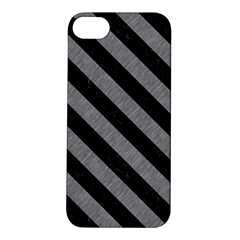 Stripes3 Black Marble & Gray Colored Pencil (r) Apple Iphone 5s/ Se Hardshell Case