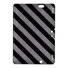 Stripes3 Black Marble & Gray Colored Pencil (r) Kindle Fire Hdx 8 9  Hardshell Case