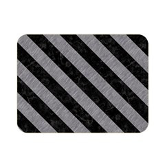Stripes3 Black Marble & Gray Colored Pencil (r) Double Sided Flano Blanket (mini)