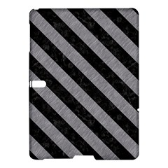 Stripes3 Black Marble & Gray Colored Pencil (r) Samsung Galaxy Tab S (10 5 ) Hardshell Case
