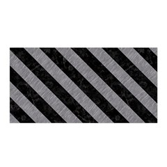 Stripes3 Black Marble & Gray Colored Pencil (r) Satin Wrap