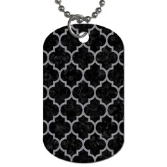 Tile1 Black Marble & Gray Colored Pencil Dog Tag (one Side)