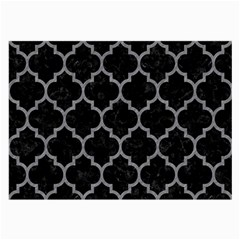 Tile1 Black Marble & Gray Colored Pencil Large Glasses Cloth (2 Side)