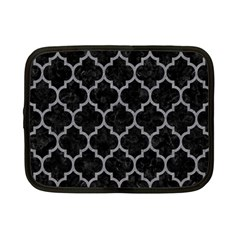 Tile1 Black Marble & Gray Colored Pencil Netbook Case (small)