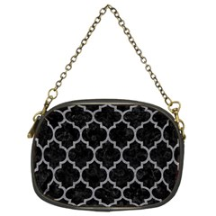 Tile1 Black Marble & Gray Colored Pencil Chain Purses (two Sides)