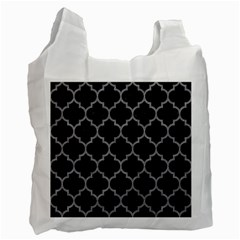 Tile1 Black Marble & Gray Colored Pencil Recycle Bag (two Side)
