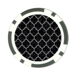 Tile1 Black Marble & Gray Colored Pencil Poker Chip Card Guard (10 Pack)