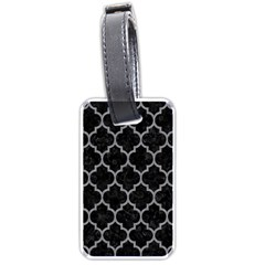 Tile1 Black Marble & Gray Colored Pencil Luggage Tags (one Side)