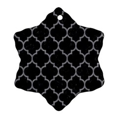 Tile1 Black Marble & Gray Colored Pencil Ornament (snowflake)