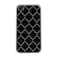 Tile1 Black Marble & Gray Colored Pencil Apple Iphone 4 Case (clear)