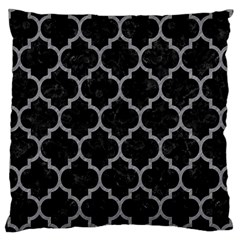 Tile1 Black Marble & Gray Colored Pencil Large Cushion Case (two Sides)