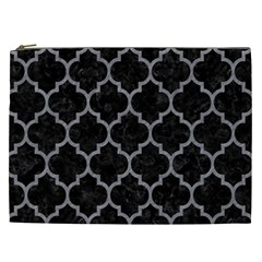 Tile1 Black Marble & Gray Colored Pencil Cosmetic Bag (xxl)