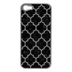 Tile1 Black Marble & Gray Colored Pencil Apple Iphone 5 Case (silver)