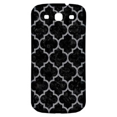 Tile1 Black Marble & Gray Colored Pencil Samsung Galaxy S3 S Iii Classic Hardshell Back Case