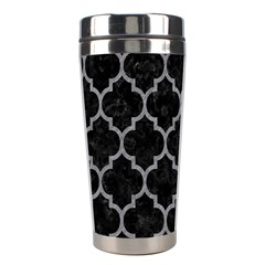 Tile1 Black Marble & Gray Colored Pencil Stainless Steel Travel Tumblers