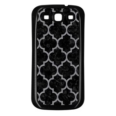 Tile1 Black Marble & Gray Colored Pencil Samsung Galaxy S3 Back Case (black)