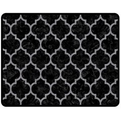 Tile1 Black Marble & Gray Colored Pencil Double Sided Fleece Blanket (medium)