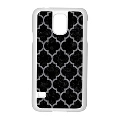 Tile1 Black Marble & Gray Colored Pencil Samsung Galaxy S5 Case (white)