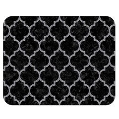 Tile1 Black Marble & Gray Colored Pencil Double Sided Flano Blanket (medium)