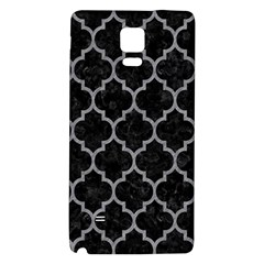 Tile1 Black Marble & Gray Colored Pencil Galaxy Note 4 Back Case