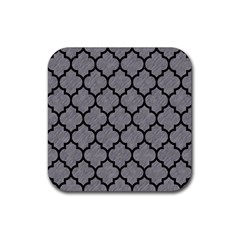 Tile1 Black Marble & Gray Colored Pencil (r) Rubber Square Coaster (4 Pack)