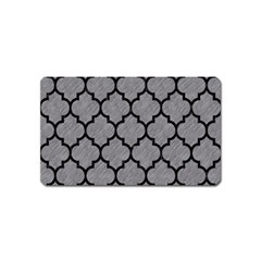 Tile1 Black Marble & Gray Colored Pencil (r) Magnet (name Card)