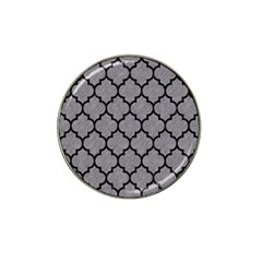 Tile1 Black Marble & Gray Colored Pencil (r) Hat Clip Ball Marker