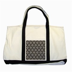 Tile1 Black Marble & Gray Colored Pencil (r) Two Tone Tote Bag