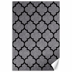 Tile1 Black Marble & Gray Colored Pencil (r) Canvas 12  X 18