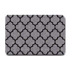 Tile1 Black Marble & Gray Colored Pencil (r) Small Doormat