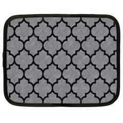 Tile1 Black Marble & Gray Colored Pencil (r) Netbook Case (xxl)