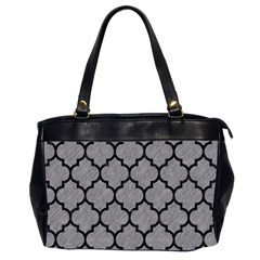 Tile1 Black Marble & Gray Colored Pencil (r) Office Handbags (2 Sides)