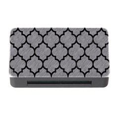 Tile1 Black Marble & Gray Colored Pencil (r) Memory Card Reader With Cf