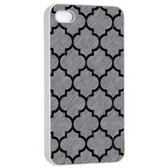 Tile1 Black Marble & Gray Colored Pencil (r) Apple Iphone 4/4s Seamless Case (white)