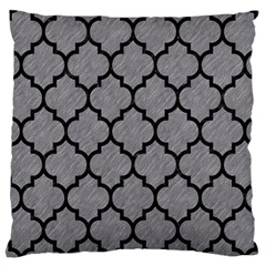 Tile1 Black Marble & Gray Colored Pencil (r) Large Cushion Case (one Side)